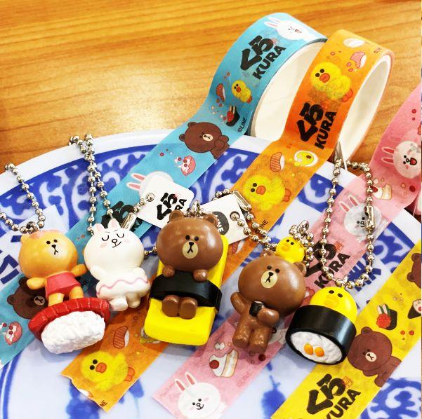 藏壽司xline friends限定扭蛋超療癒!「玉子燒熊大、鮮蝦兔兔」每個都好想擁有