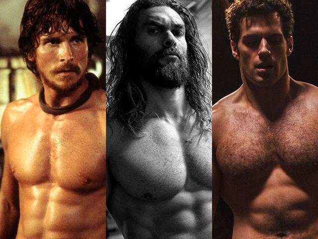 las transformaciones físicas de los actores en superhéroes de dc
