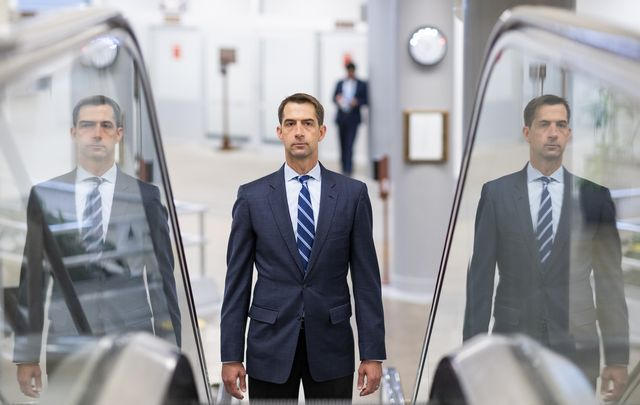 united states   july 23 sen tom cotton, r ark, arrives in the capitol for a vote on thursday, july 23, 2020 photo by bill clarkcq roll call, inc via getty images