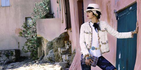 Hat, Street fashion, Sun hat, Door, Vintage clothing, Fedora, Fashion design,