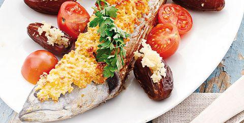 Dish, Food, Cuisine, Ingredient, Cherry Tomatoes, Tomato, Produce, Staple food, Vegetable, Fish,