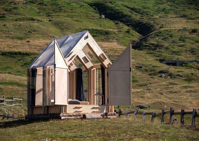 una cabaña eco sostenible en italia
