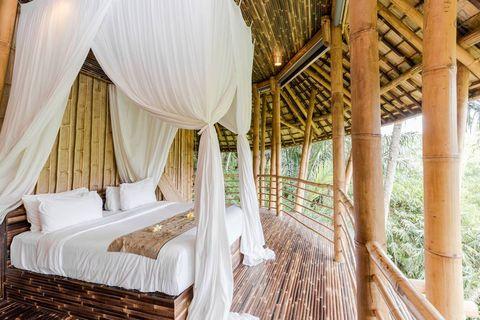 Cabaña de bambú en Bali