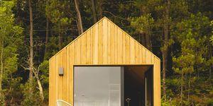 Cabaña de construcción sostenible en Moradas no Ulla