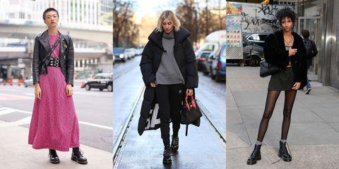 fbb11a2d96 Las botas militares se han convertido en un elemento recurrente en el  street style.Getty Images