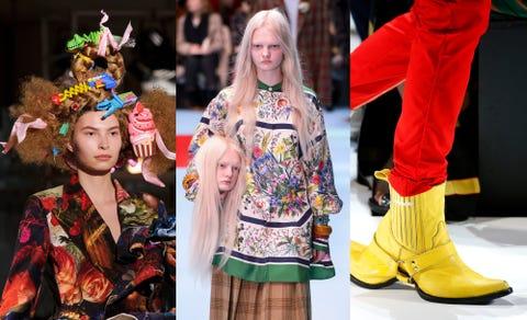 Fashion, Runway, Yellow, Footwear, Fashion model, Fashion show, Street fashion, Haute couture, Fashion design, Event,