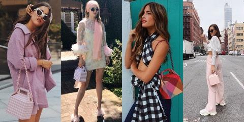 Clothing, Street fashion, Fashion, Fashion model, Pink, Footwear, Dress, Outerwear, Leg, Shoe,