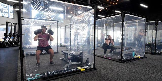cabinas ejercicio individual gimnasio box