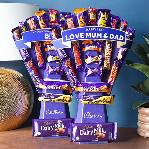 cadbury chocolate bouquet