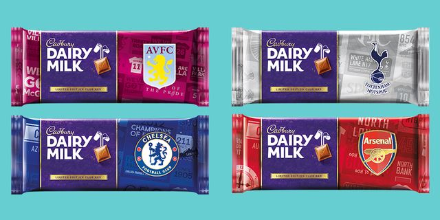 cadbury chocolate bars now come in football themed packaging for father's day
