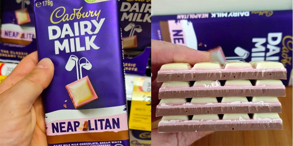 Cadbury's Dairy Milk Neapolitan Chocolate Bar Is Everything We've Ever Wanted (And More)