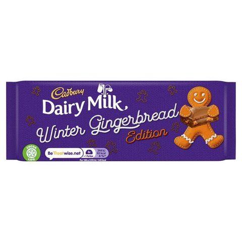 Cadbury gingerbread christmas chocolate