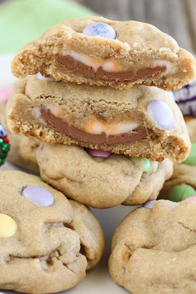 Cadbury Stuffed Cookies - Cadbury Eggs