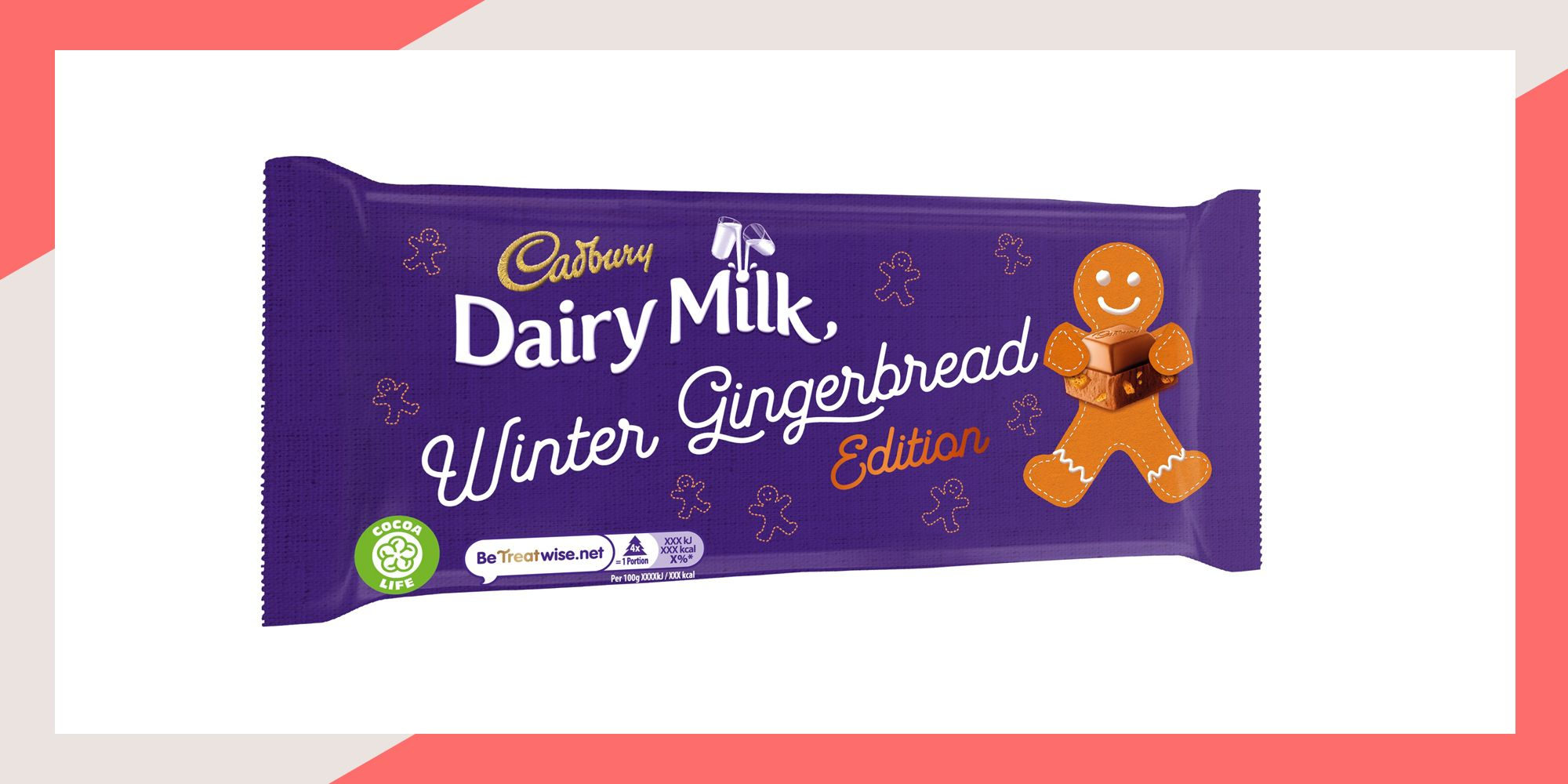 Cadbury Dairy Milk launches new gingerbread flavour for Christmas
