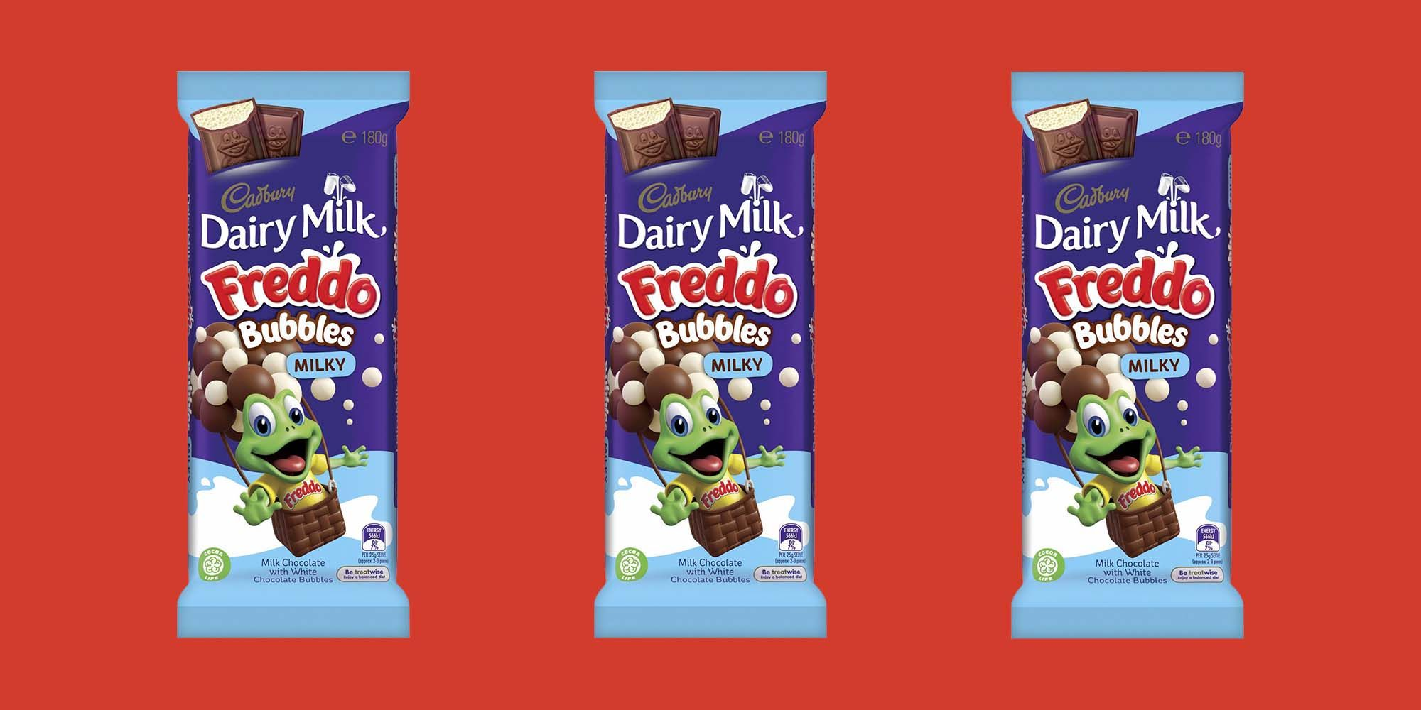 Cadbury's Freddo Bubbles Bar is now available in the UK