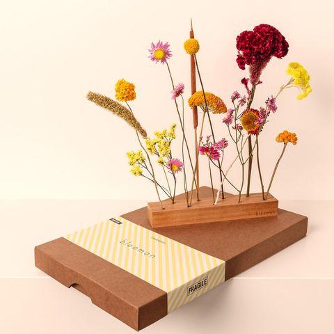Gedroogde bloemen cadeau voor de plantenliefhebber