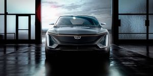 Cadillac EV rendering front grille