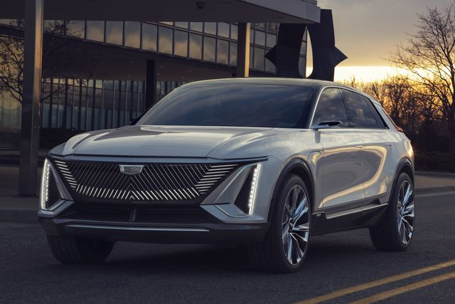 cadillac lyriq pairs next generation battery technology with a bold design statement which introduces a new face, proportion and presence for the brand's new generation of evs images display show car, not for sale some features shown may not be available on actual production model