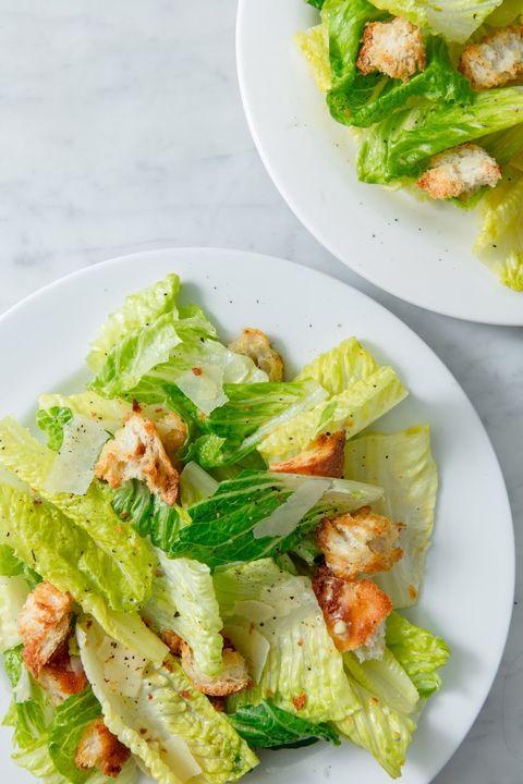 Dish, Food, Cuisine, Salad, Caesar salad, Vegetable, Ingredient, Leaf vegetable, Garden salad, Lettuce,