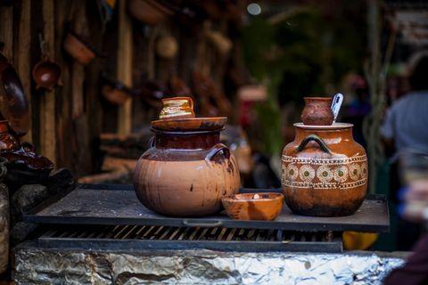 Café de olla, clay pot coffee or Mexican coffee