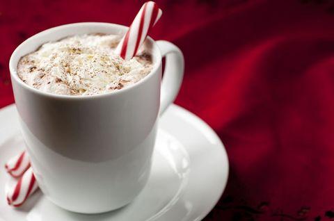 Café moka con chocolate y menta