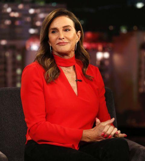 Caitlyn Jenner bij het programma Jimmy Kimmel Live