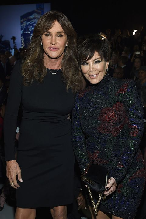 a48315b91bc1 Caitlyn and Kris Jenner at the Victoria s Secret show with Kendal walking
