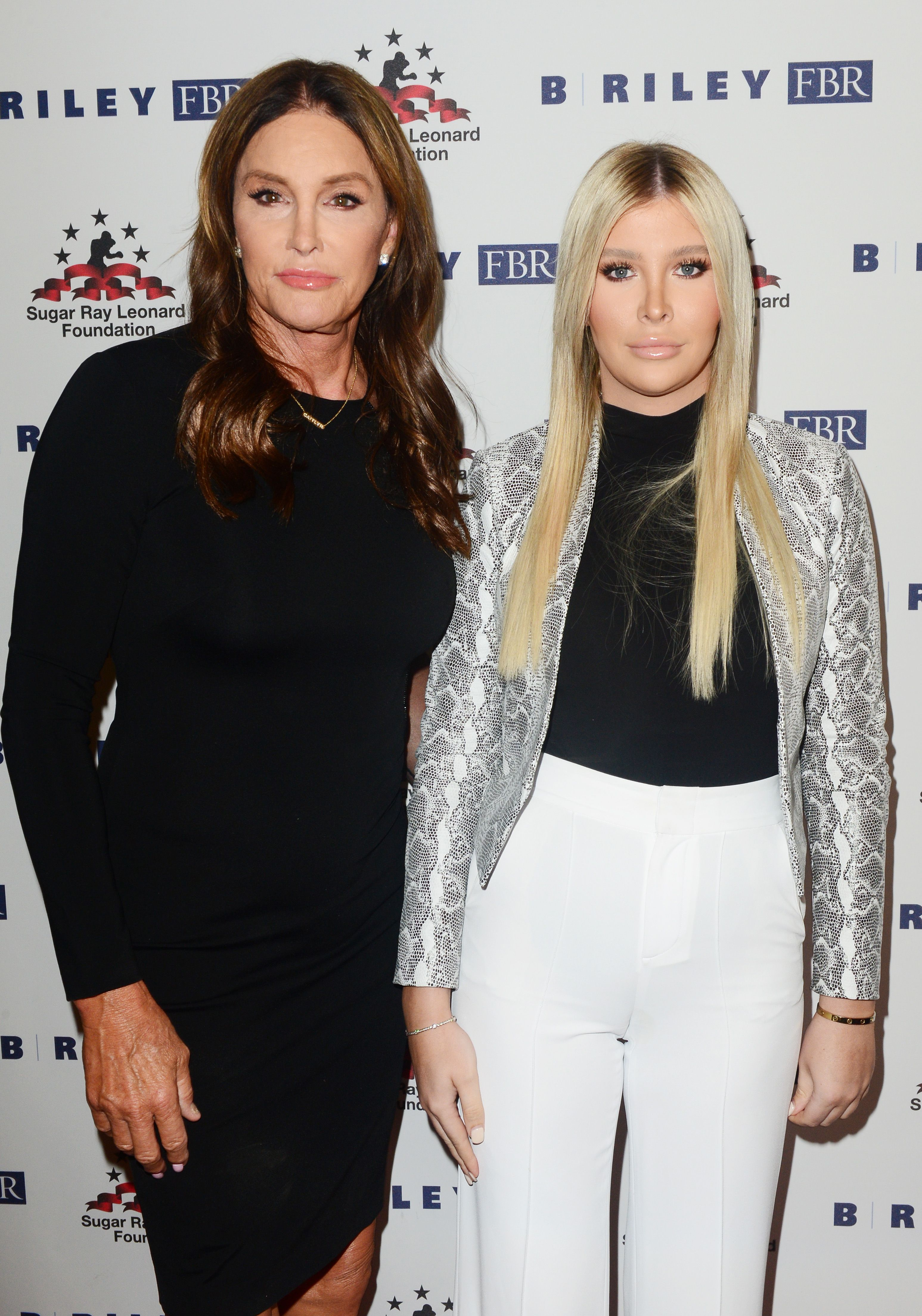 Caitlyn Jenner is finally greeted by Sophia Hutchins after exiting I'm A Celeb