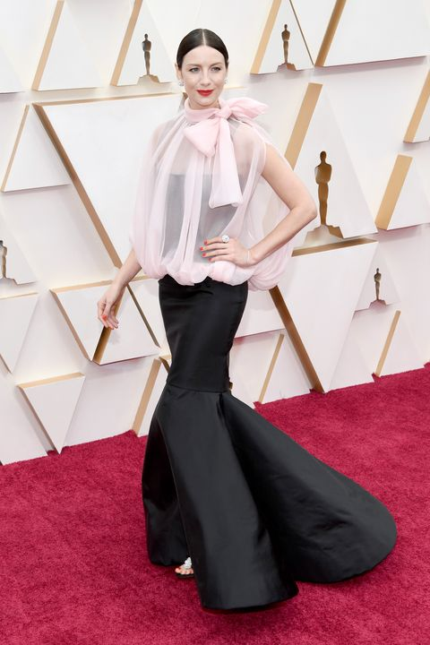 See Caitriona Balfe's Maison Valentino Dress on the 2020 Oscars Red Carpet  in Photos