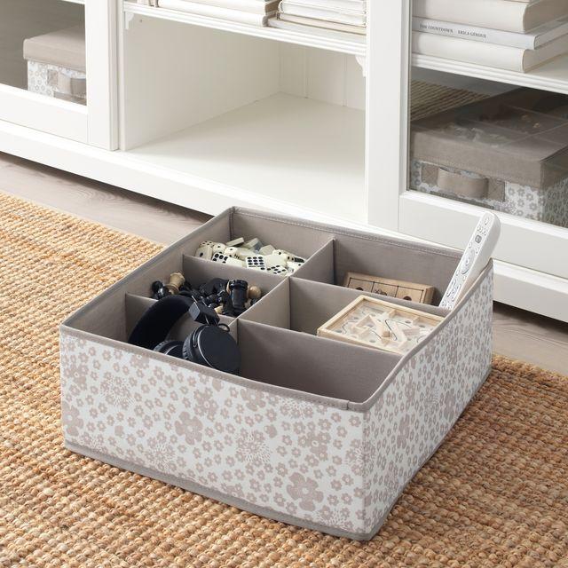 caja con compartimentos de ikea