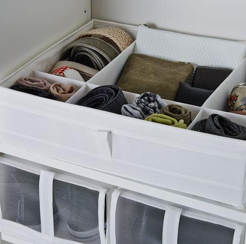 caja con compartimentos skubb de ikea