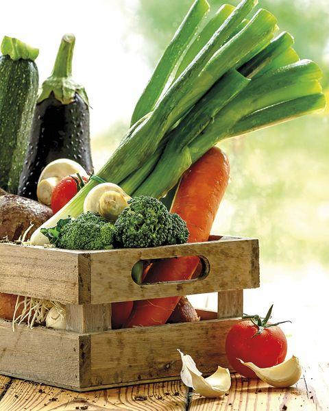 caja de verduras