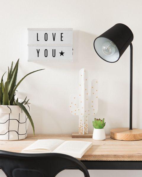 Caja luminosa con mensaje