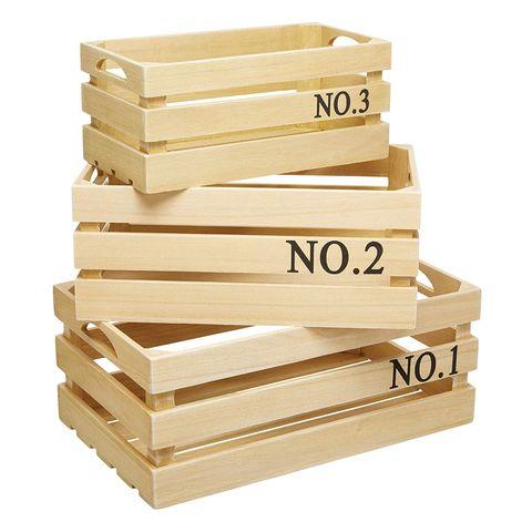 Cajas de madera para almacenaje