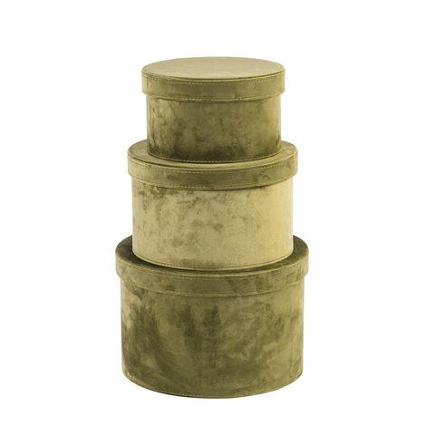 Cajas de terciopelo verde