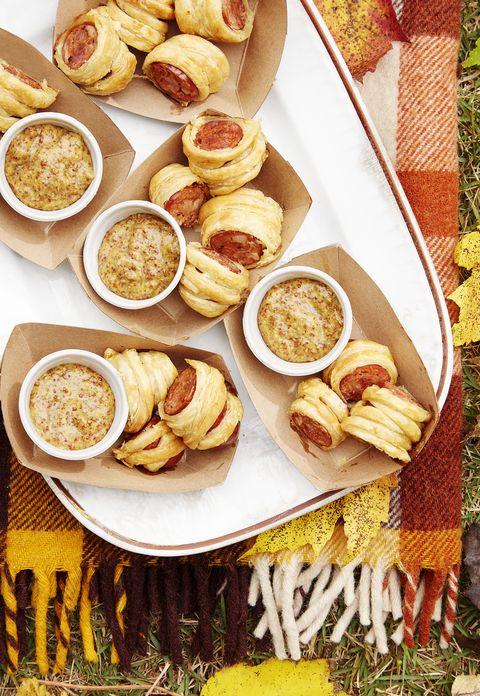 cajun sausage puffs with bourbon mustard recipe