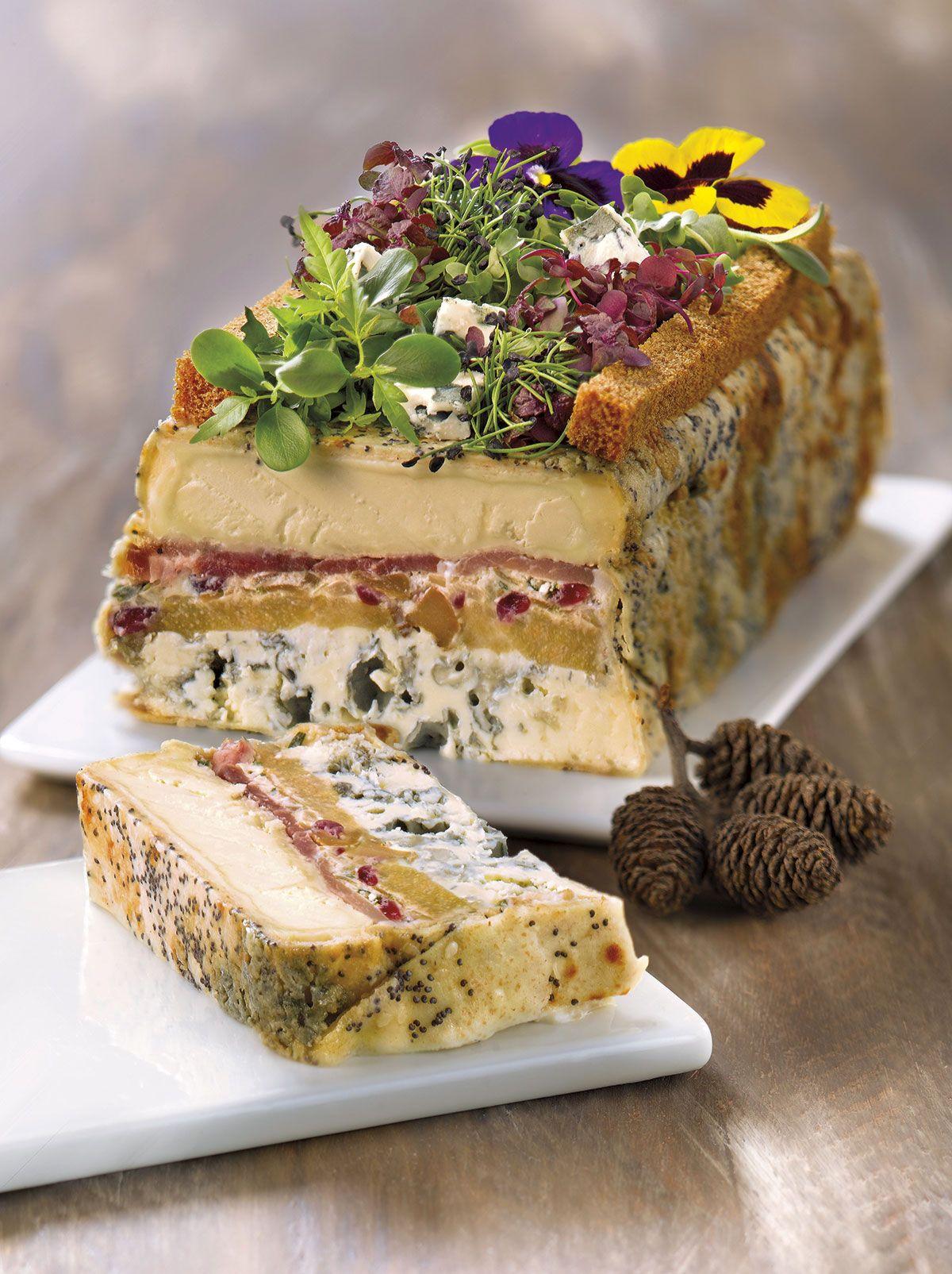 Aperitivos de Navidad: Cake de quesos y jamón