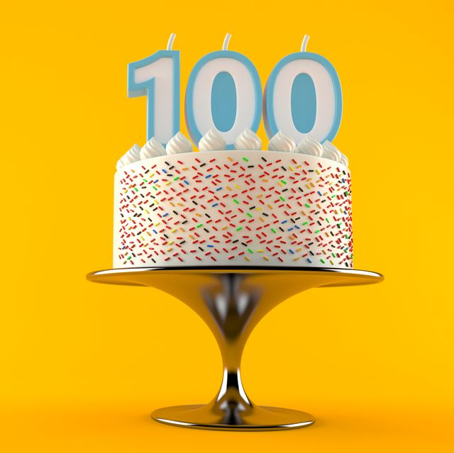 Cake with one hundred candle