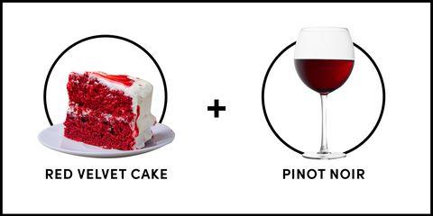 Red Velvet Cake And Pinot Noir