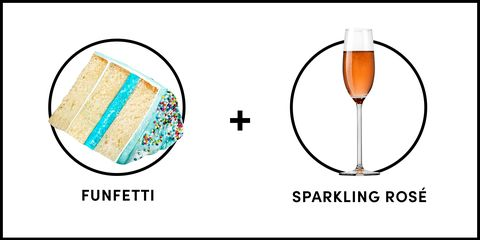 Funfetti Cake And Sparkling Rose