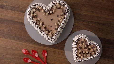 Heart, Food, Cuisine, Dish, Dessert, Heart, Chokladboll, Torte, Sweetness, Valentine's day,
