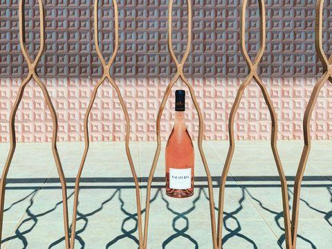 Wine bottle, Tile, Metal, Glass bottle, Net, Bottle,