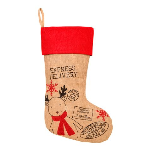 Christmas stocking, Christmas decoration, Footwear, Reindeer, Interior design, Sock, Ornament,