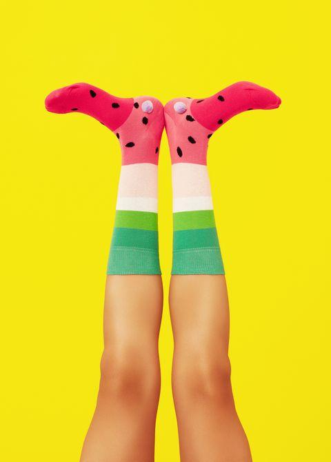 Calcetines con dibujos de sandía