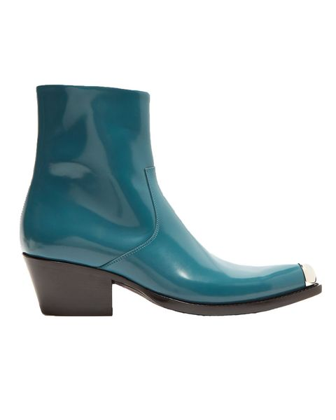 Calvin Klein 205W39NYC teal western boots