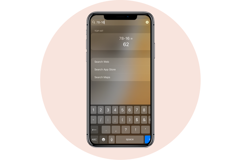 calculator shortcut apple iphone