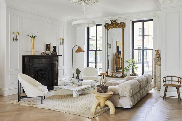 living room with camaleonda sofa by mario bellini