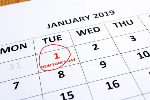 History of New Year's Holiday - January 1