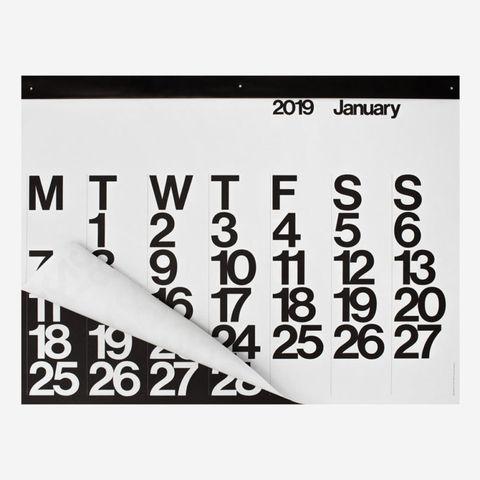 Calendario 2019 Con Numero Di Settimana.I Calendari 2019 Di Design
