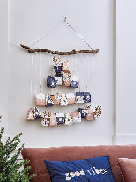 Decoración de Navidad DIY: calendario de Adviento